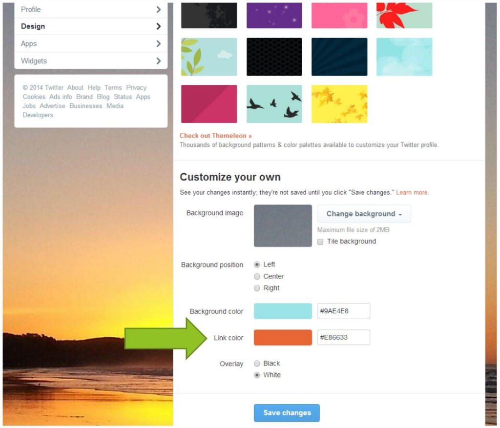 Twitter link design