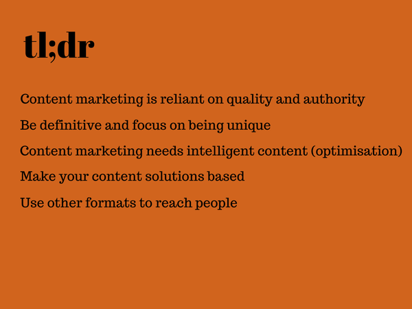tldr content marketing