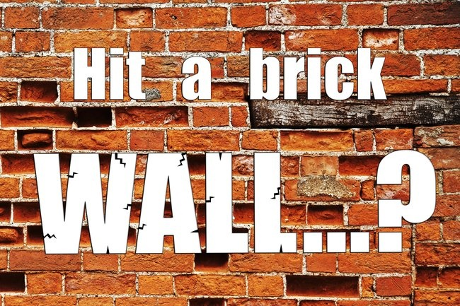 Brick wall business concept
