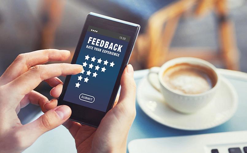 Website feedback on mobile